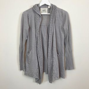 Anthropologie Angel of The North Gray Cardigan